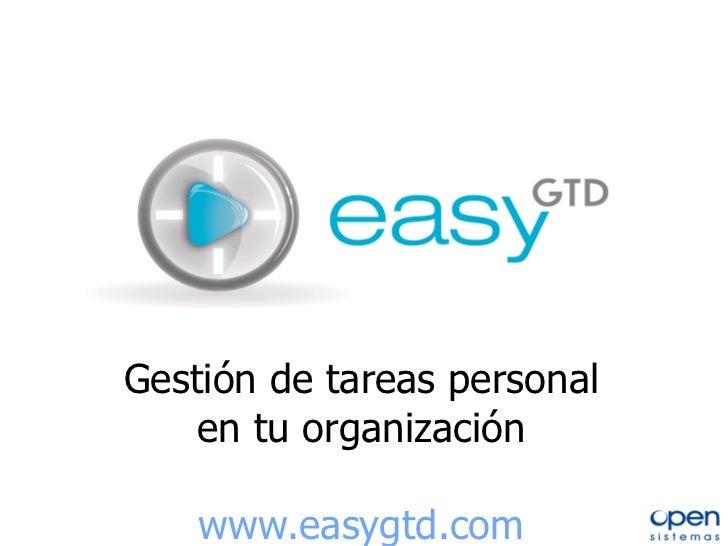 Gestión de tareas personal en tu organización www.easygtd.com