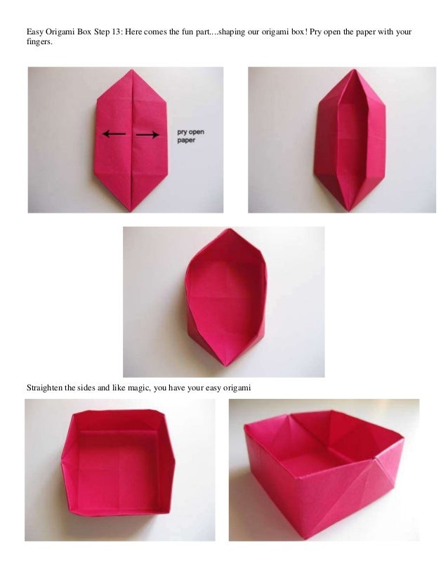 How To Make An Origami Heart Box With Lid