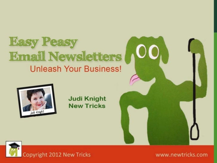 Easy Peasy Email Newsletter Presentation with Mail Chimp
