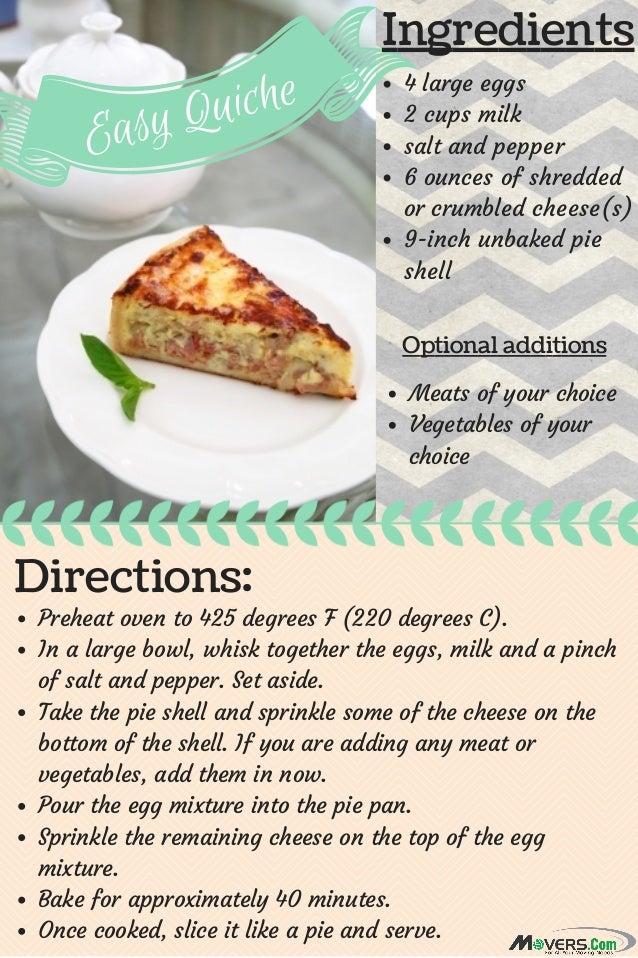 Easy keish recipes