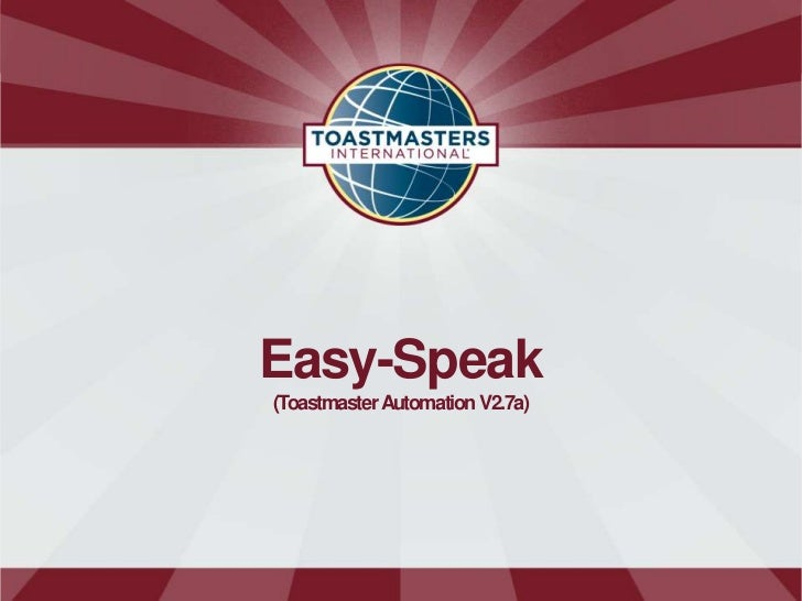Easy-Speak(Toastmaster Automation V2.7a)
