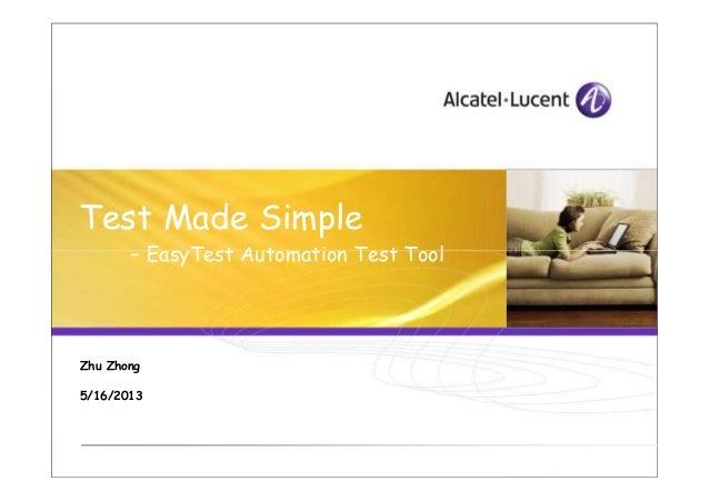 EasyTest Test Automation Tool Introduction