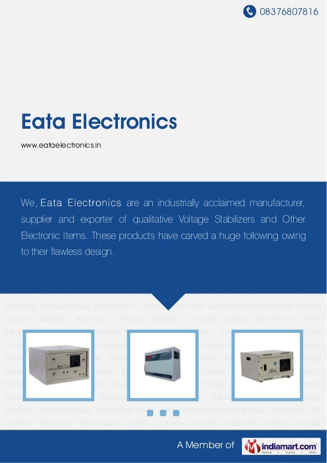 Toroidal Voltage Stabilizers by Eata electronics