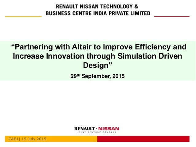 Partnering with Altair to Improve Efficiency and Increase ... - photo#39