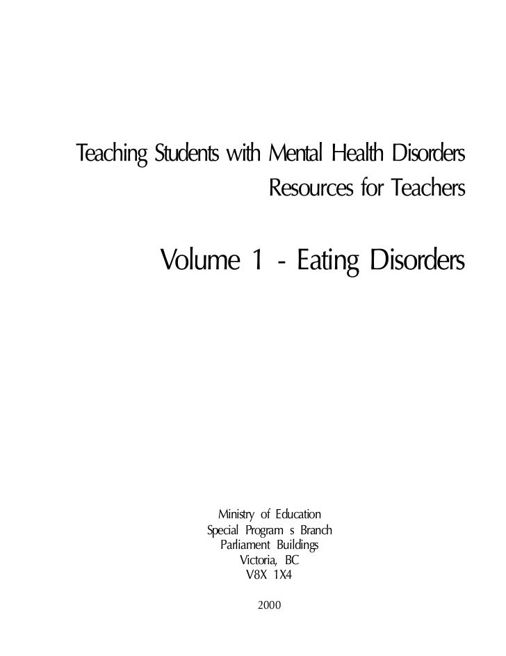Essays on eating disorders