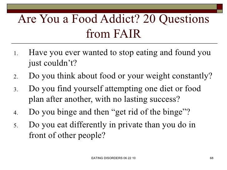Eating disorders essay questions