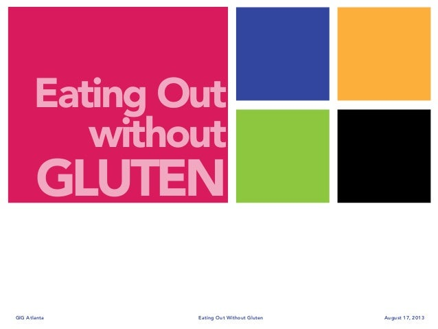 Eating out Without Gluten
