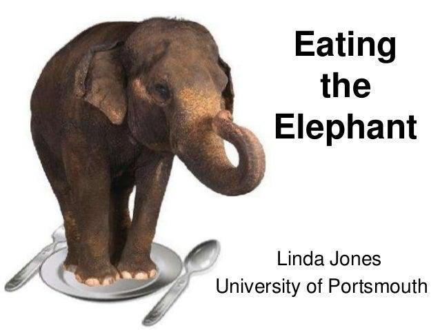 Eating the Elephant  Linda Jones University of Portsmouth