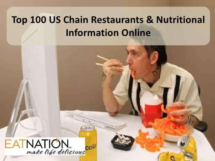 Top 100 US Chain Restaurants & Nutritional Information Online<br />