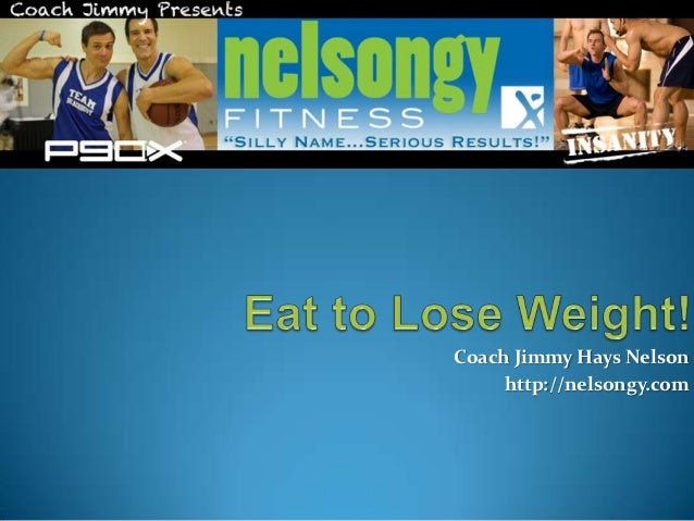 How to Eat to Lose Weight!