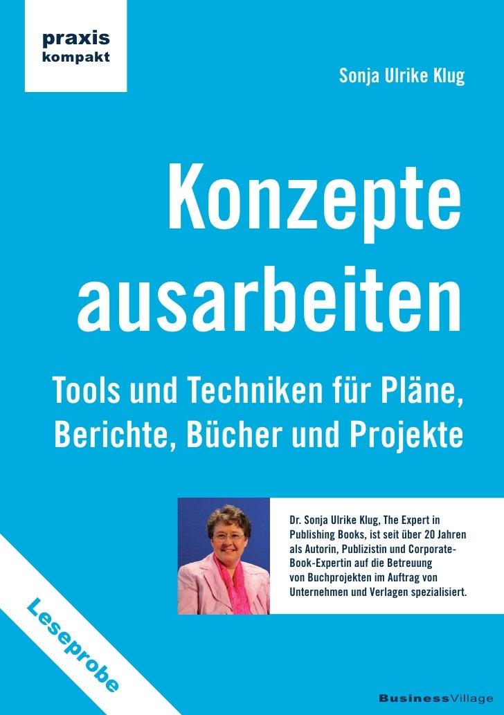 praxis kompakt                              Sonja Ulrike Klug       Konzepte     ausarbeiten  Tools und Techniken für Plän...