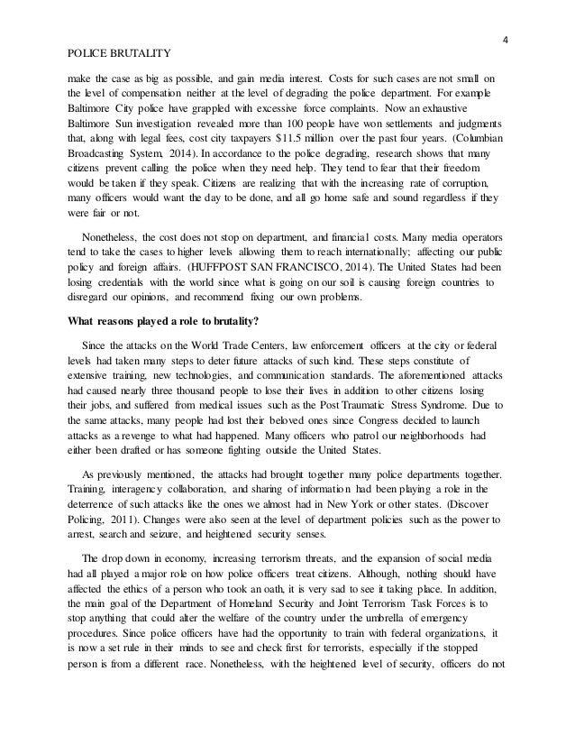 Police brutality persuasive speech dissertation exemple franais