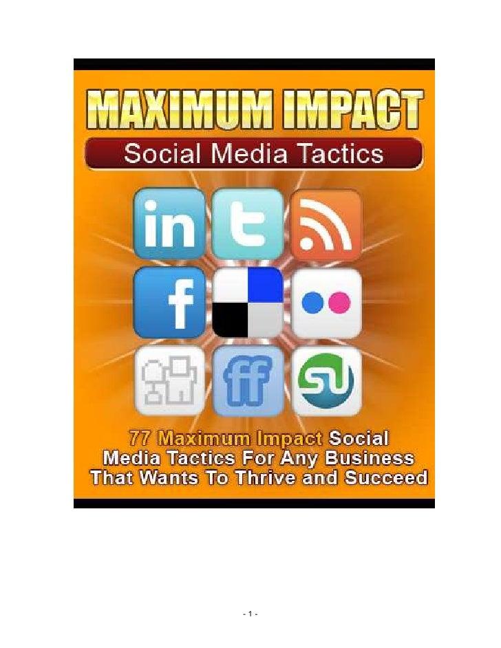 E B17 039  Social  Media  Maximum  Impact  Tactics