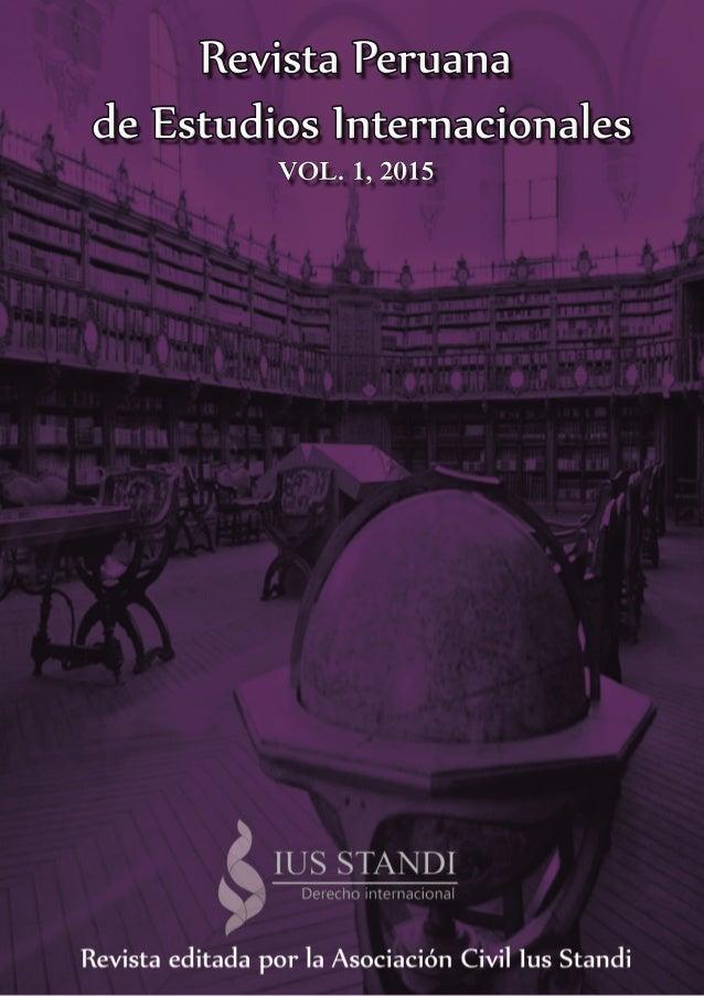 RevistaPeruana deEstudiosInternacionales VOL.1,2015