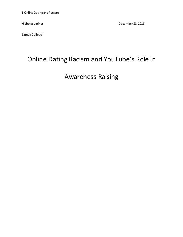 Online Dating Racism and YouTube's Role in Awareness Raising