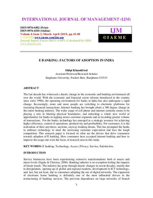 INTERNATIONAL2,JOURNAL ISSN MANAGEMENT (IJM)  International Journal of Management (IJM),                                  ...