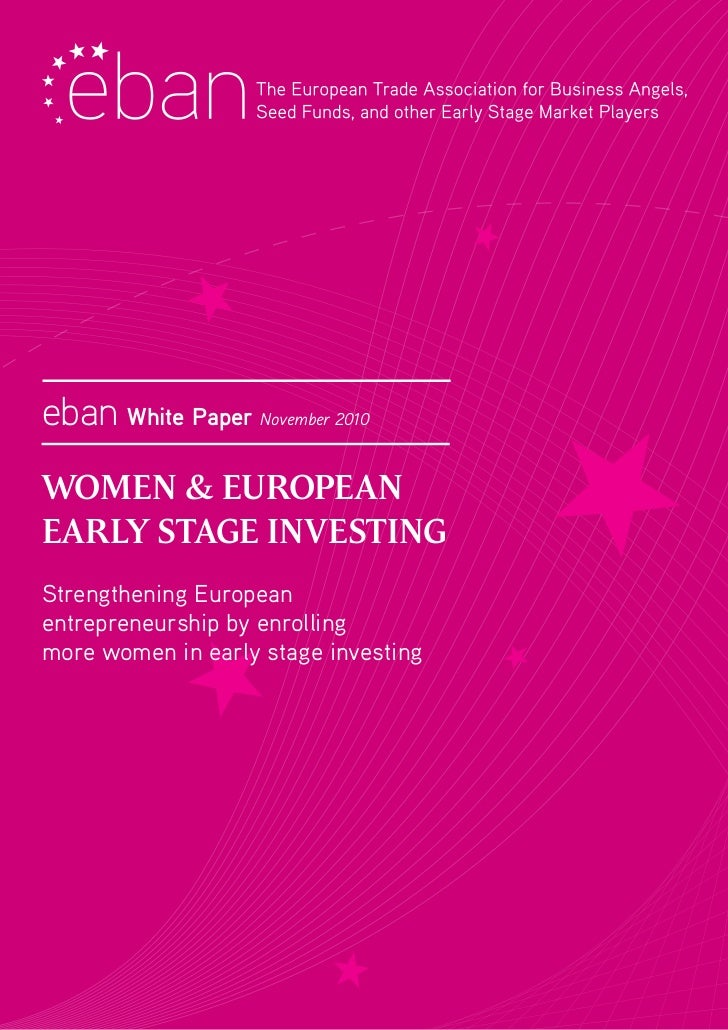 Women and early stage investing 2011