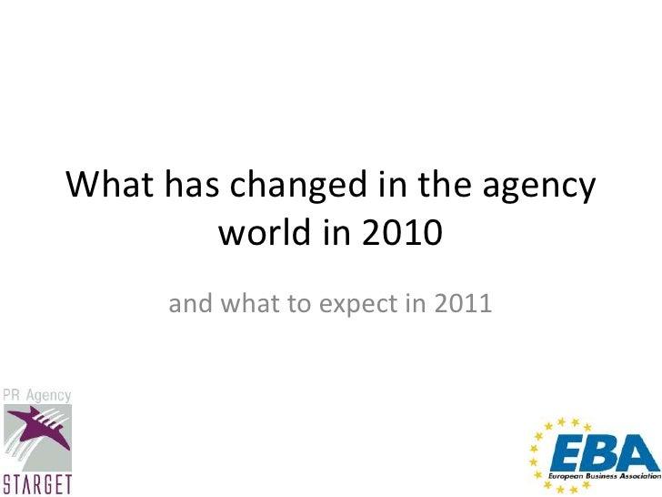 Ukrainian PR agencies: 2010-2011 review