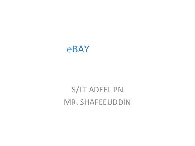 eBAY  S/LT ADEEL PN MR. SHAFEEUDDIN  1