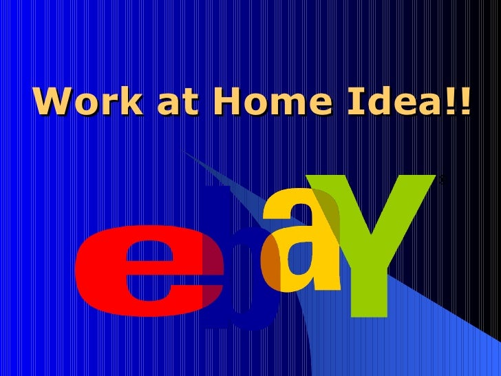 Work at Home Idea!!