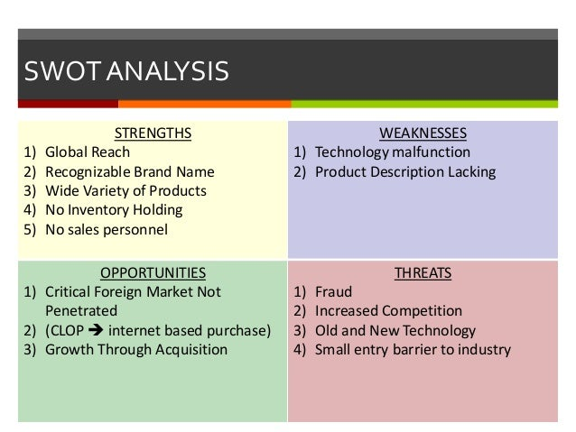 wal mart case analysis paper includes swot tows analysis p Wal-mart case analysis essay sample i current situation a current performance wal-mart is the world's number 1 retailer, with more than 4,800 stores, including 1,475 discount stores, 1,750 combination discount and grocery stores (wal-mart supercenters in the us and asda in the uk) and 540 warehouse stores (sam's club.