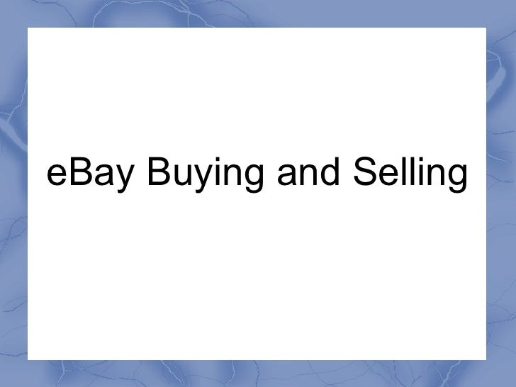 eBay Buying and Selling
