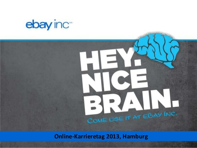 Online Karrieretag Hamburg 2013 - eBay, Inc overview for young professionals