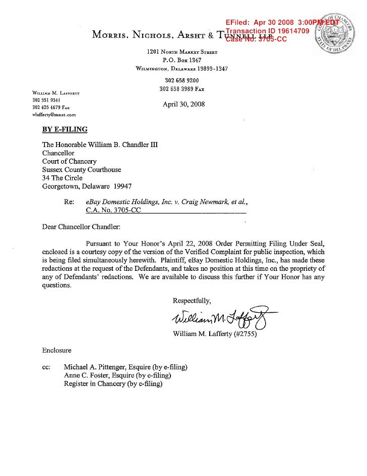 E Bay Letterwith Public Redacted Verified Complaint