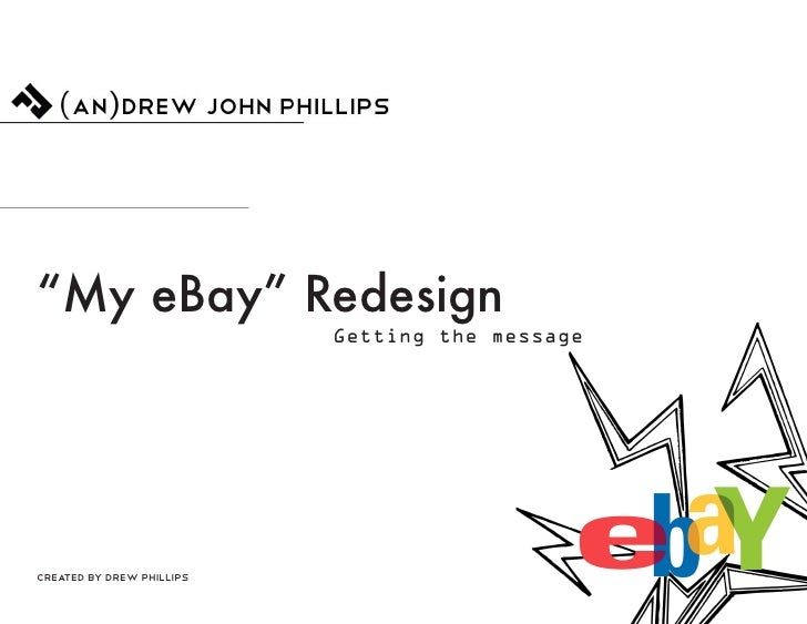 Drew Phillips eBay Redesign