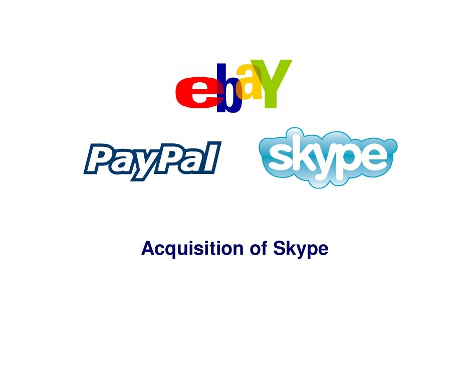 E Bay Skype Acquisition