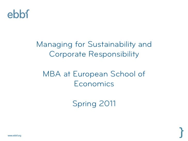 ebbf - introduction to csr and to a changing world