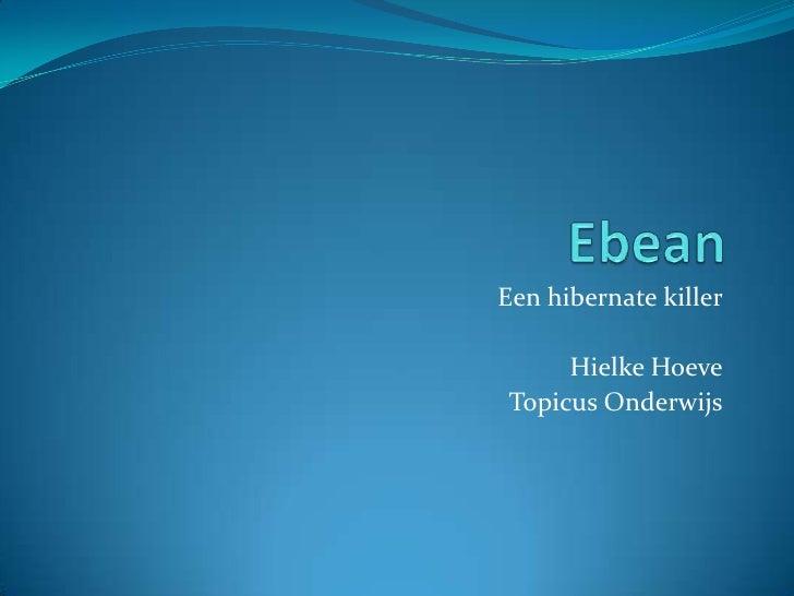 Ebean<br />Een hibernate killer<br />Hielke Hoeve<br />TopicusOnderwijs<br />