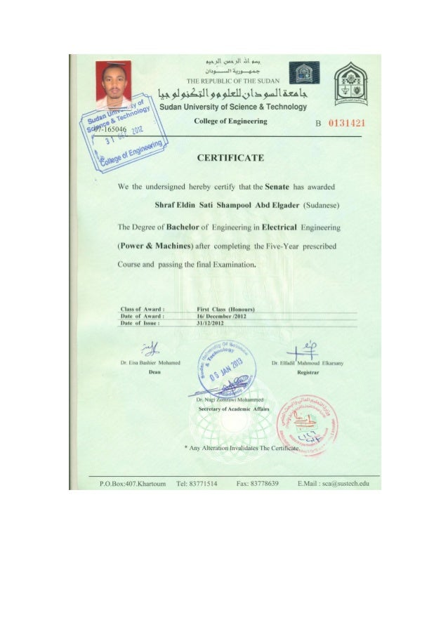 BACHELOR OF ELECTRICAL ENGINEERING WITH HONOUR