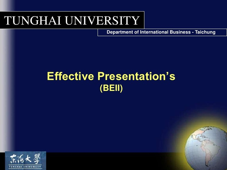 Effective Presentations (Lecture Slides)