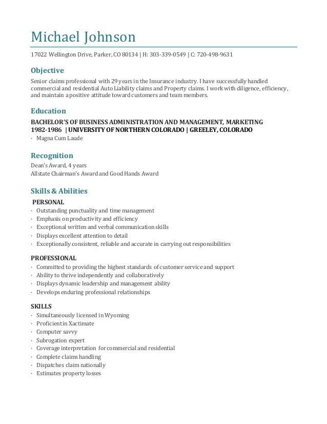 Michael parker resume