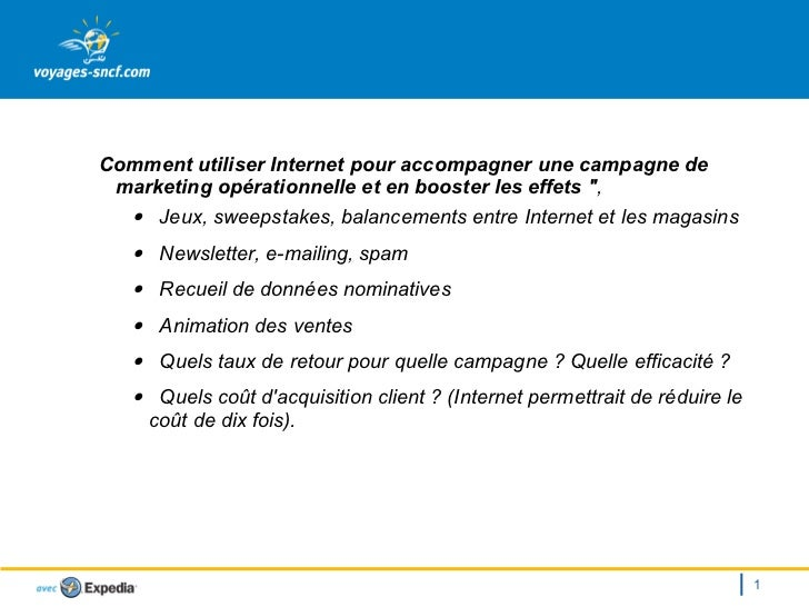 VoyagesSncf Marketing opérationnel - 22 10 2003