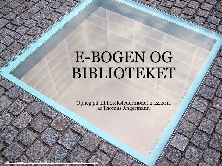 E-bogen og biblioteket
