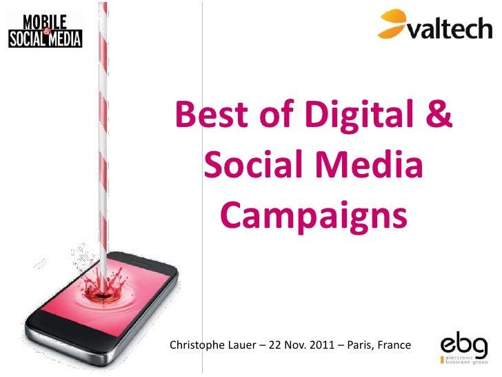 "Best of Digital Campaigns - EBG ""Social Media & Mobile"" 2011"