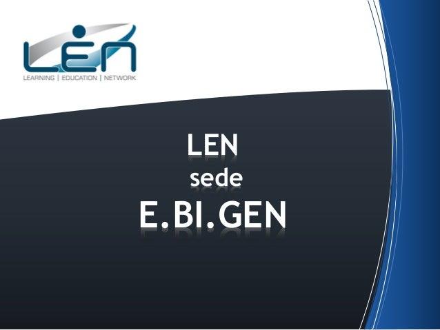 LEN sede  E.BI.GEN