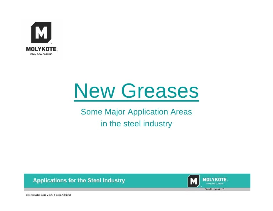 New Greases                                           Some Major Application Areas                                        ...