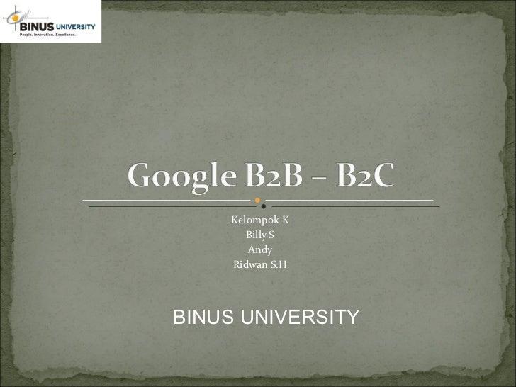 Google B2B - B2C