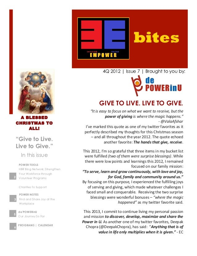 bites                                                             4Q 2012 | Issue 7 | Brought to you by:                  ...