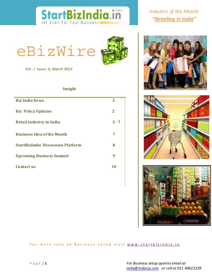 Business Set up Article - part of eBizWire by StartBizIndia