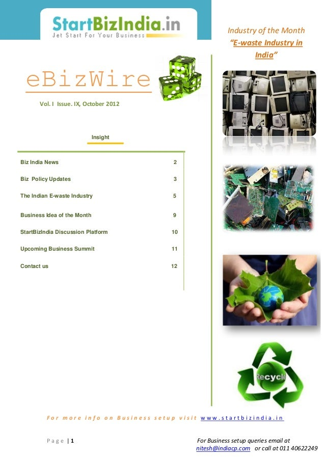 """Industry of the Month                                                        """"E-waste Industry in                         ..."""