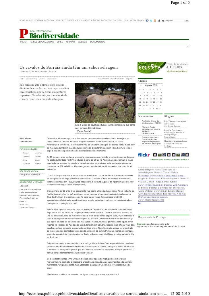 Page 1 of 5    HOME MUNDO POLÍTICA ECONOMIA DESPORTO SOCIEDADE EDUCAÇÃO CIÊNCIAS ECOSFERA CULTURA LOCAL MEDIA TECNOLOGIA| ...