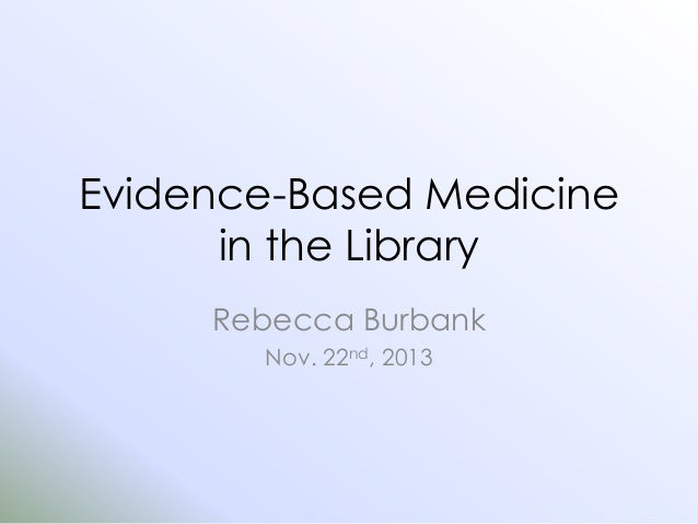 EBM in the Library - PICO
