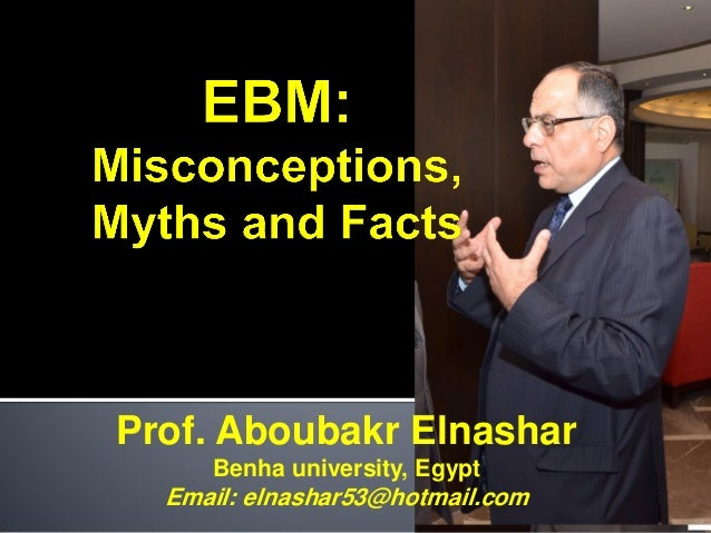 Ebm misconception myths facts