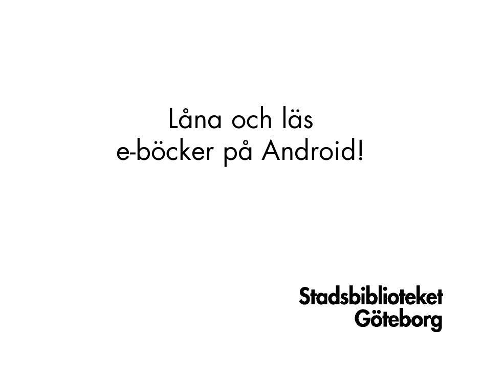 E-böcker i en Android
