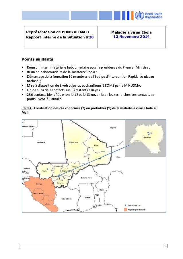 1 Points saillants Réunion interministérielle hebdomadaire sous la présidence du Premier Ministre ; Réunion hebdomadaire d...