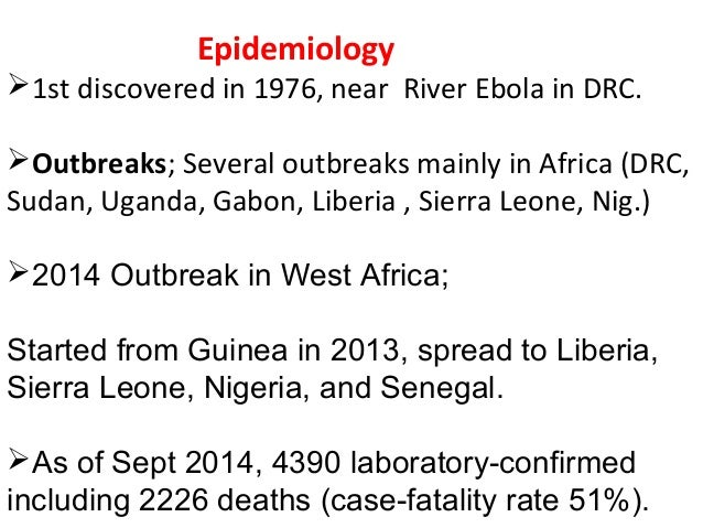 ebola hemorrhagic fever in gabon: chaos to control Outbreak investigations around the world: case studies in infectious disease field epidemiology editor mark s dworkin, md, mph&tm, facp associate professor division of epidemiology and biostatistics.